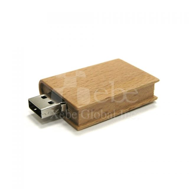 Book designed Wooden USB sticks
