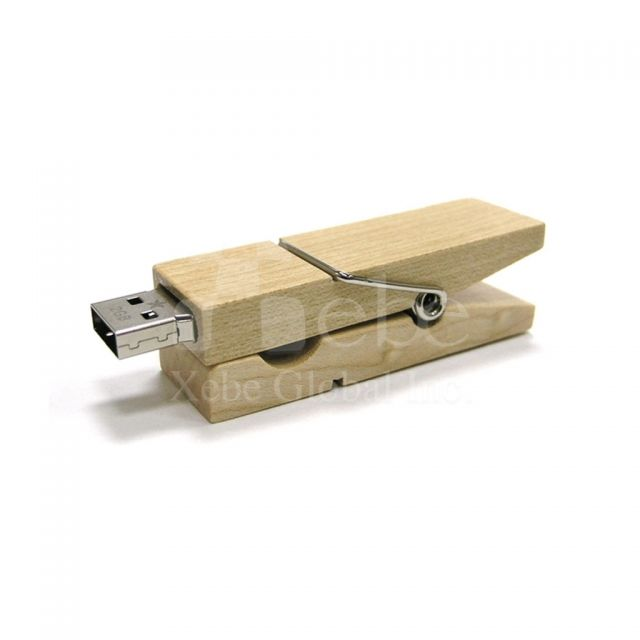 Wooden Clamp USB drive