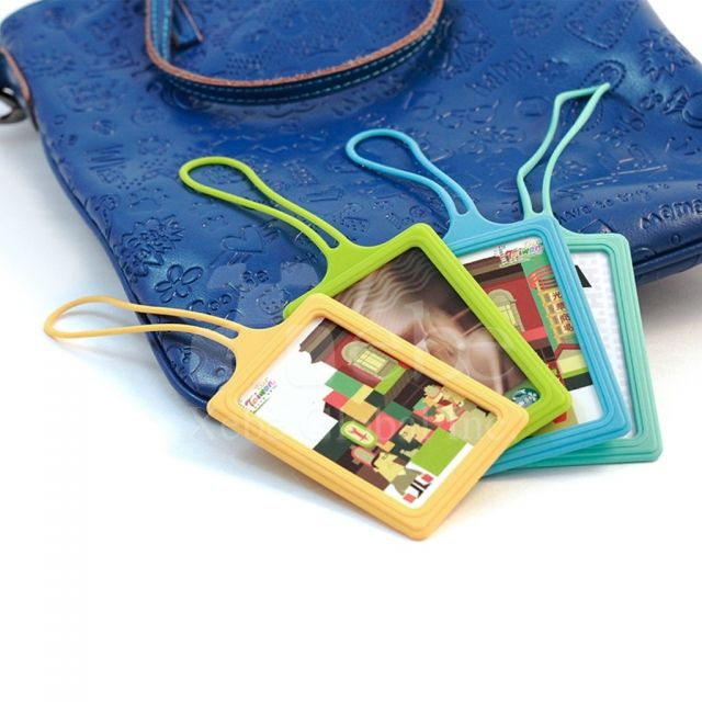 Colorful badge holders