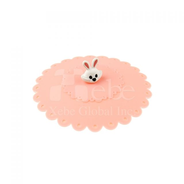 Cute rabbit silicone cup cover