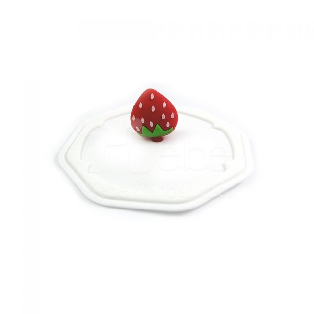 Strawberry silicone cup cover