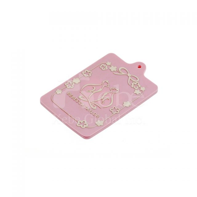 Pink luggage tags