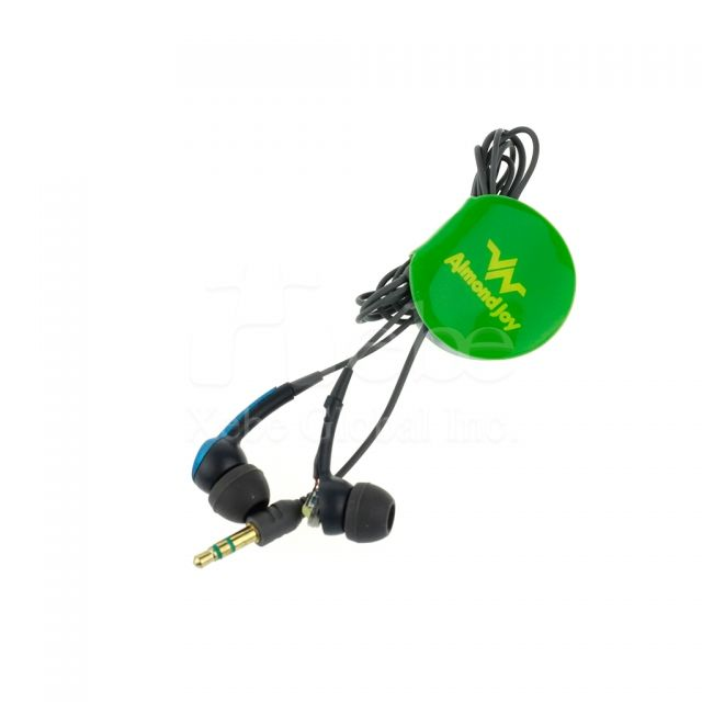Logo printed earphone winder