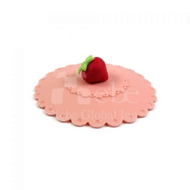 Strawberry silicone cup cover lidAwesome gift ideas