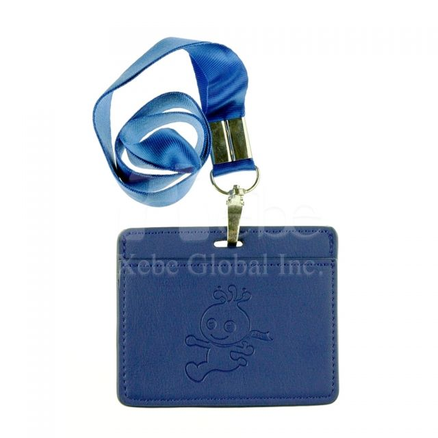 Custom card holder faux leather id card holder
