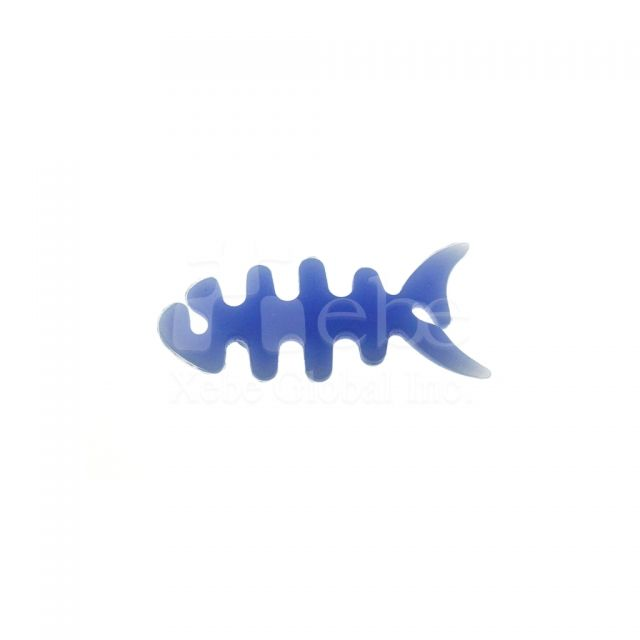 Fishbone headphone winder Soft plastic molding