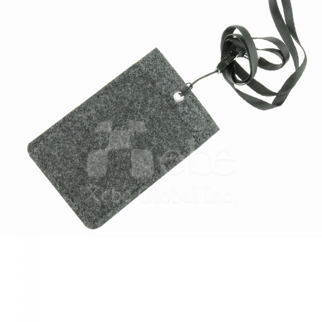 Custom felted wool card holder corporate souvenirs