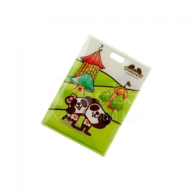 Two-sided cartoon print card holder