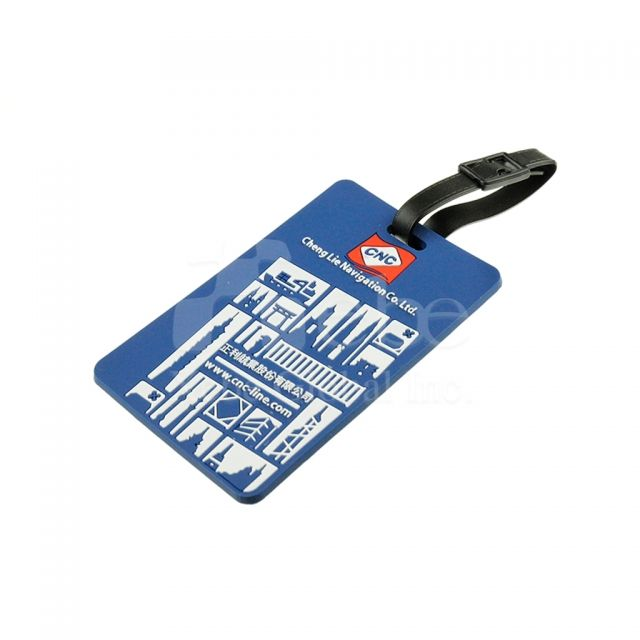 Corporate soft plastic luggage tags Custom souvenir