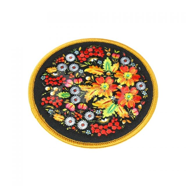 Flower electric embroidery custom coasters great wedding gifts