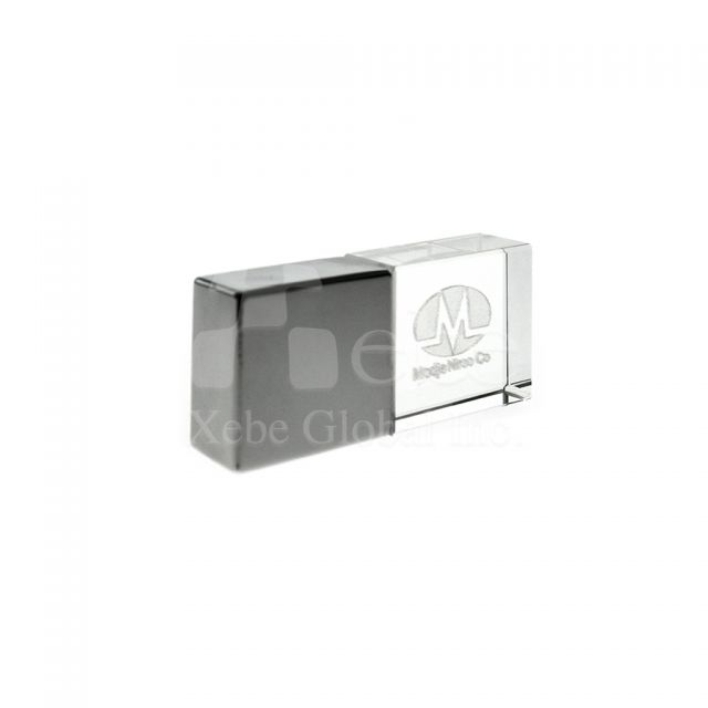 Crystal Logo Custom usb drive business advertising products