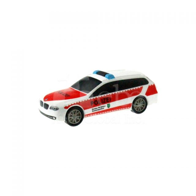 Red and white police car usb drive